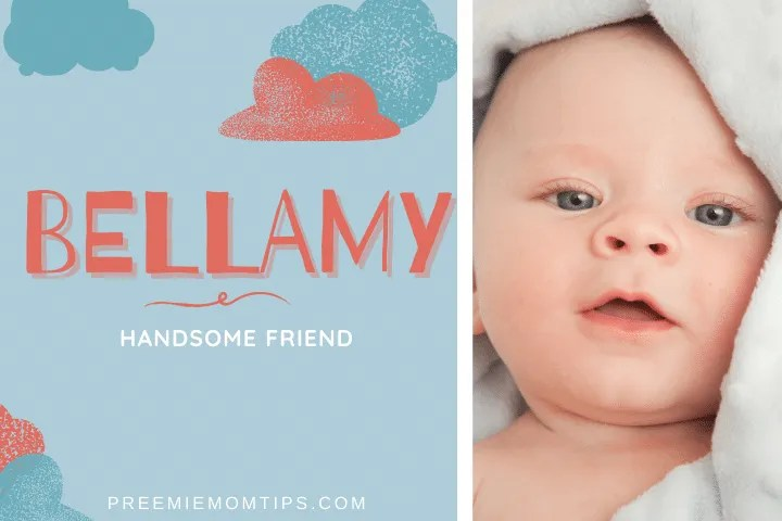 """Bellamy is a trending name for baby boys, meaning """"Handsome Friend""""."""