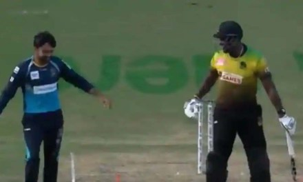 Andre Russell imitates Rashid Khan as bails don't fall; banter lights up CPL – WATCH