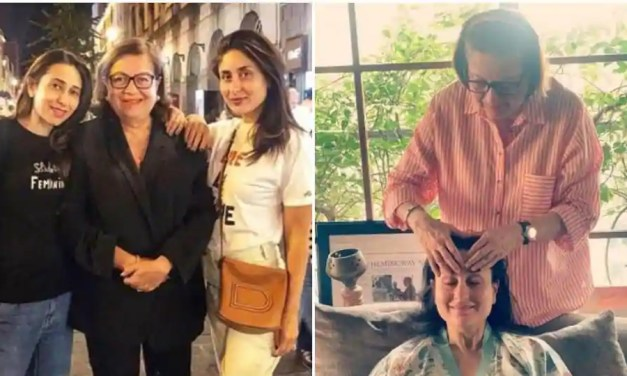 Soon-to-be-mom Kareena Kapoor enjoys mother Babita's 'haath ka maalish', see pic