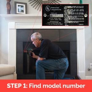 Find prefab fireplace model number