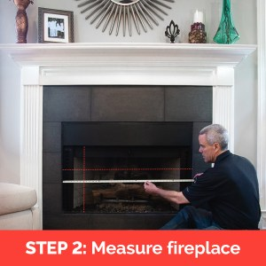Measure length width and recess depth of prefab fireplace
