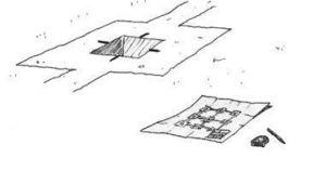 dibujo de marcas en cáliz de pilar