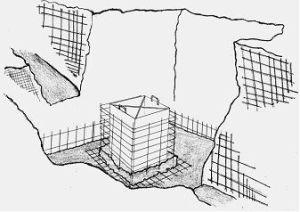 imagen de encofrado de cáliz de cimentación