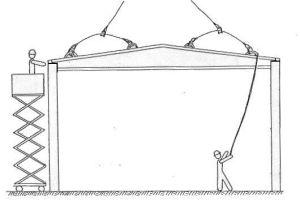 dibujo de colocación de DP en pilares