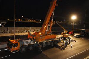 Montaje nocturno, una de las dificultades en el montaje de prefabricado