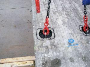 Ganchos instalados por una máquina ELEMATIC LOOPMASTER
