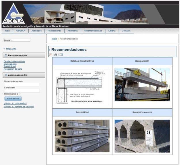 Imagen de la página web de AIDEPLA