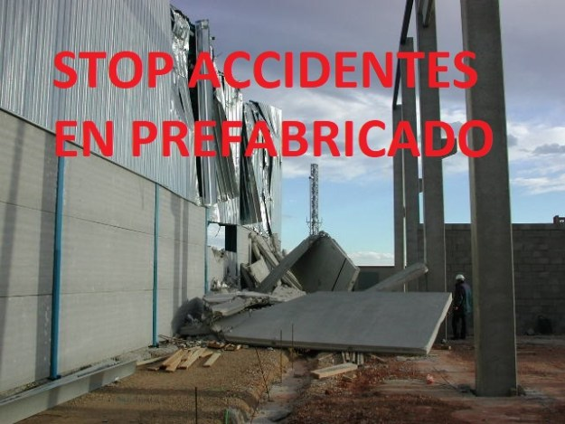 stop accidentes en prefabricado