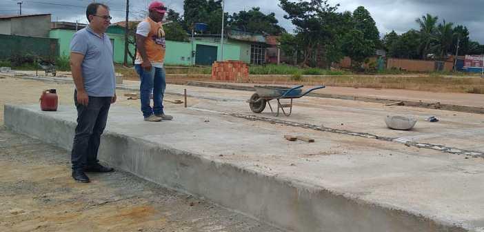 Prefeito Adelar Pelegrini visita obras municipais em andamento na cidade de Tucumã
