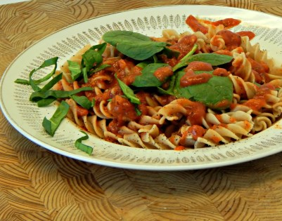 iron and vitamin C, pasta, tomato sauce