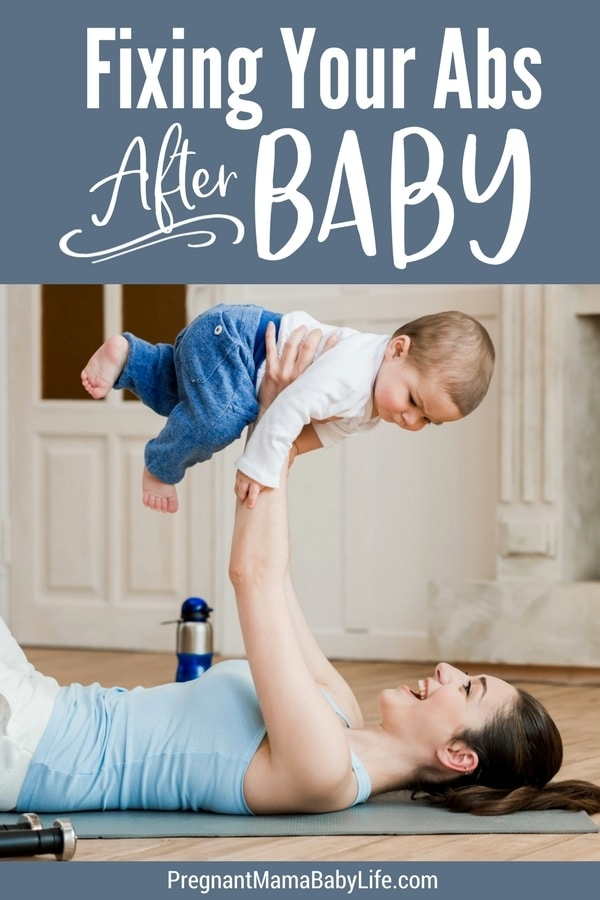 Fixing diastasis recti. Getting your body back after baby. Fix your abs postpartum with these tips.