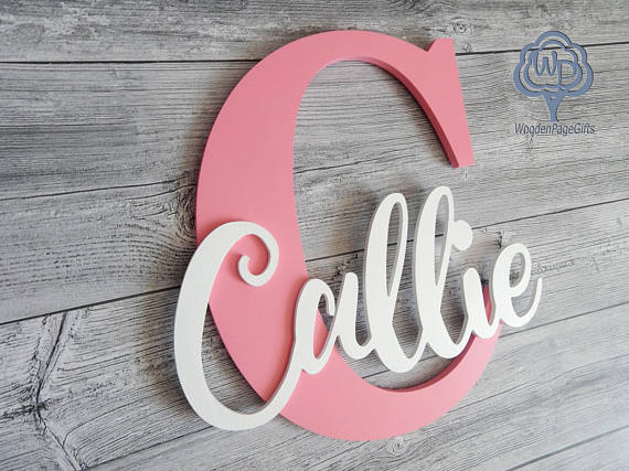 Wooden baby name display. Perfect for any nursery theme.