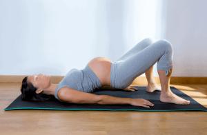 Pelvic floor exercises during pregnancy.
