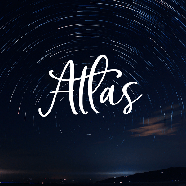 Space baby boy name. Atlas.