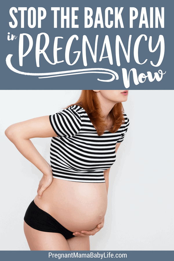 Stop back pain in pregnancy. Relief sciatica pain and lower back pain with these simple but effective tips.