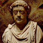 stillbilde - rex barbaricum - folkevandring - bilde av statue
