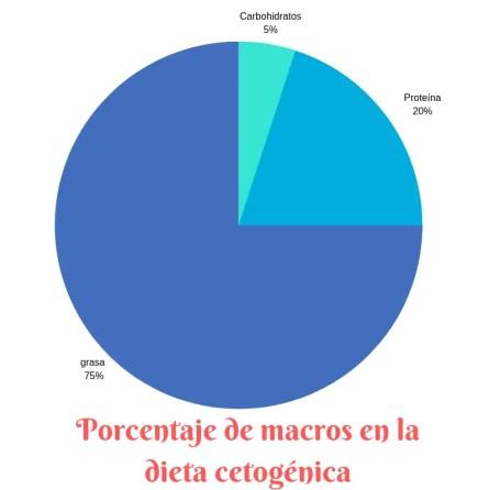 pie chart de porcentaje de macros
