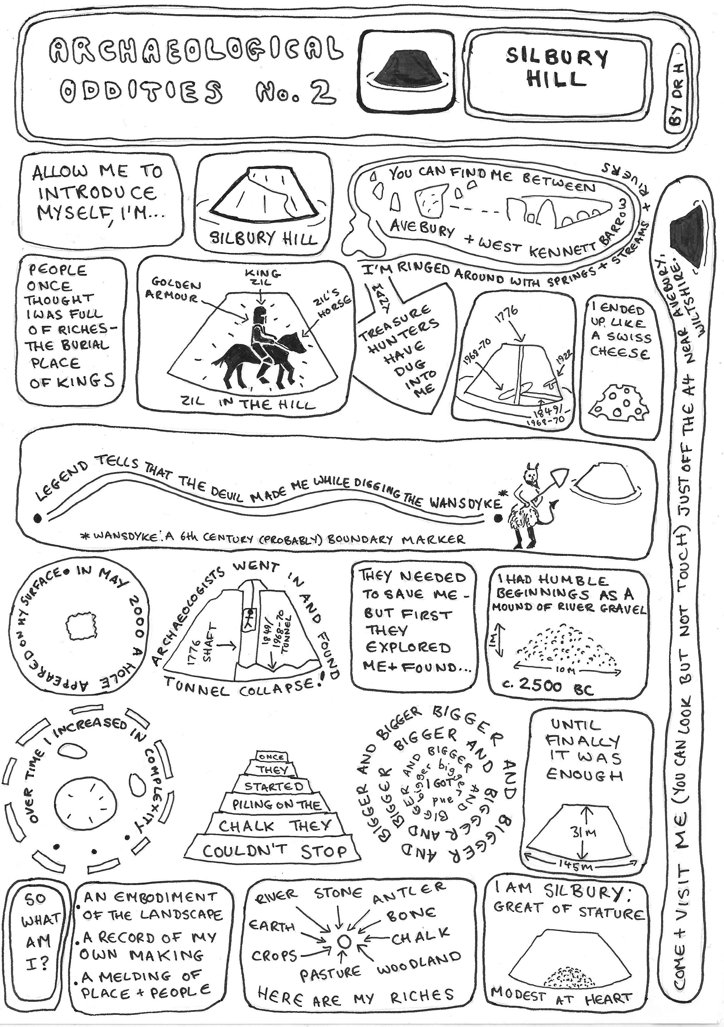 Silbury Hill Neolithic Wiltshire Comic