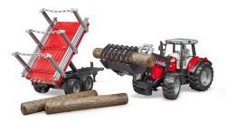 Massey Ferguson + Frontlader, Holztransporthänger