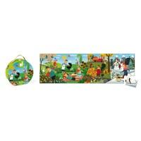 Puzzlekoffer Panorama-Puzzle vier Jahreszeiten 36 Teile