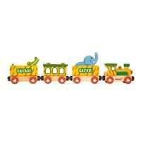 Story Safari-Zug gross mit Figuren (Holz)