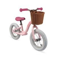 Bikloon Vintage Laufrad Metall Rosa mit Korb