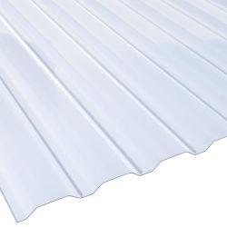 Lichtplatte PVC 20/138LA für Wandprofil Stärke 1,4 mm Breite 1,14 m glasklar-bläulich