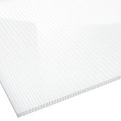 Stegplatte Polycarbonat 16 mm 980 mm breit glasklar X Struktur