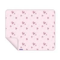 Dooky Blanket - Decke / einlagig / Pink Herzen