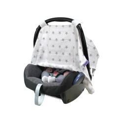 Dooky Canopy - Sonnentuch für Babyschalen / Graue Sterne
