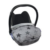 Dooky Cosy Top - Babyschalenüberzug / wasserabweisend /Graue Sterne