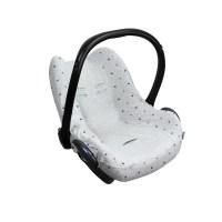 Dooky Seat Cover 0+ - Babyschalenbezug / Hellgraue Kronen
