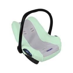 Dooky Seat Cover 0+ - Babyschalenbezug / Mint/Grau