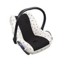 Dooky Seat Cover 0+ - Babyschalenbezug / Schwarze Federn