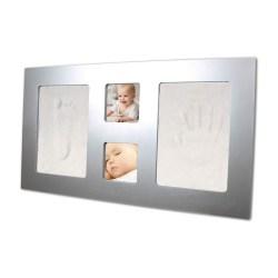 Happy Hands - Hand & Fußabdruckset / großer Rahmen (silberfarben)