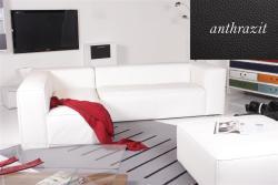 Ecksofa - Sofa Het Anker Leder Toledo anthrazit Recamiere links Summer