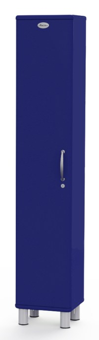 MALIBU - Designer Hochschrank 5131-064 abschließbar, marineblau, MDF lackiert