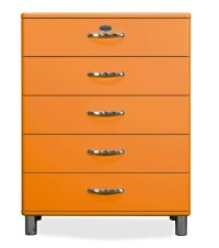 MALIBU - Designer Kommode 5295-017 orange, MDF lackiert