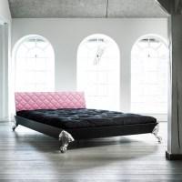 Karup EAGLE Massivholzbett Pink 140 x 200 cm