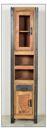 SIT Badezimmer - Hochschrank Panama aus Massivholz und Metall