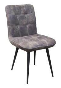 6x Stuhl Senta Esszimmerstuhl Kunstleder grau
