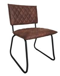 2x Stuhl Keda Esszimmerstuhl Kunstleder braun