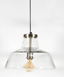 Hängeleuchte VERRA 43x25cm aus Glas und Bronze