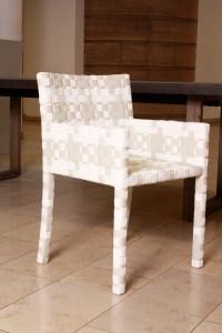 Stuhl - Armlehnstuhl Cape West grau/weiß