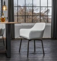 4er Set Stuhl Loui Sessel Kunstleder Esszimmerstuhl weiß