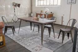 KAWOLA Esszimmertisch KELIO Tisch 120x80cm Holz/Metall