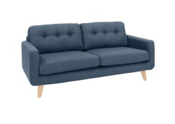 KAWOLA 3-Sitzer ALEXO Sofa Stoff blau