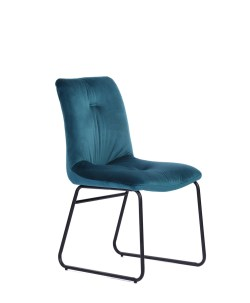KAWOLA Set 2x Stuhl ZITA Esszimmerstuhl Velvet Petrol