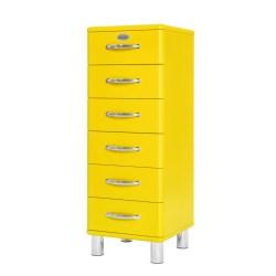Tenzo Kommode MALIBU mit 6 Schubladen gelb