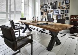 KAWOLA Esszimmertisch SASNA Tisch Eiche massiv 180x100cm